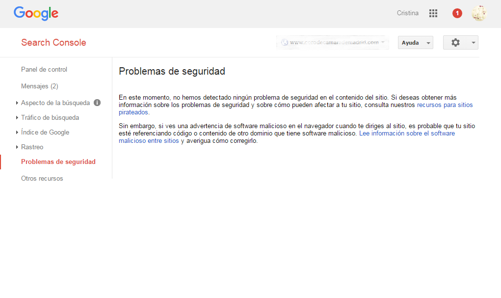 Google Webmaster Tools Problemas de seguridad