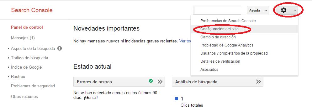 Verificar domonio con o sin www. en Google Webmaster Tools